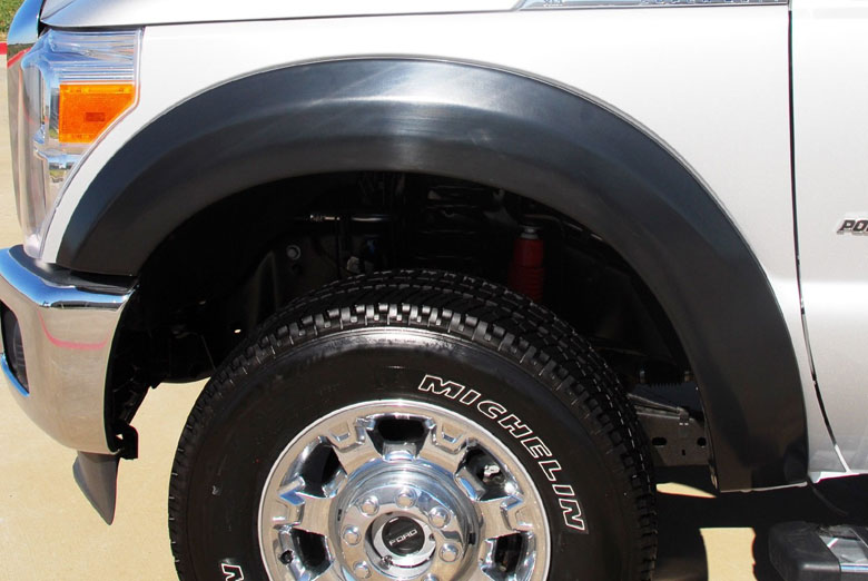 2013 Ford F-350 Lund EX-Extrawide Textured Full Set Fender Flares