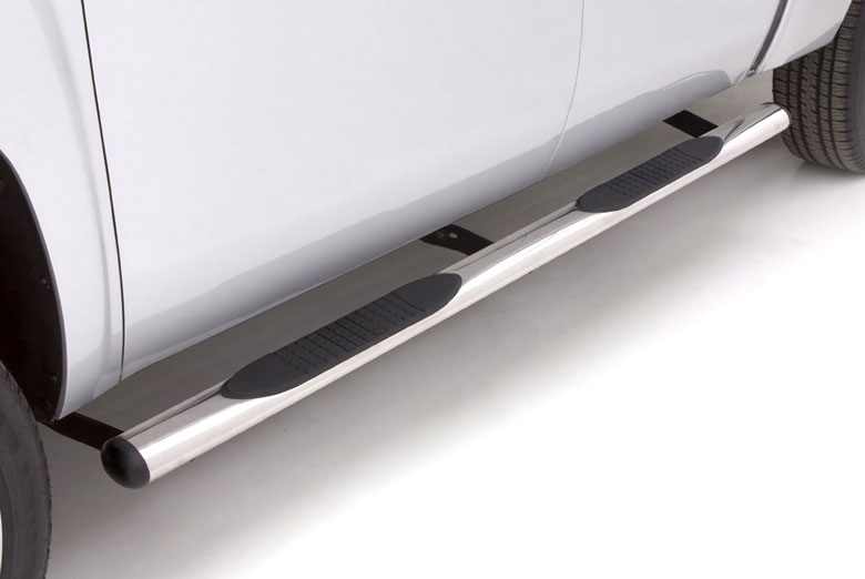 "2005 Hummer H2 4"" Straight Stainless Steel Oval Side Steps"