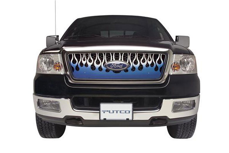 2013 Chevrolet Suburban Flaming Inferno Blue Grille