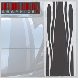 Racing Stripes - Fire and Water Graphic
