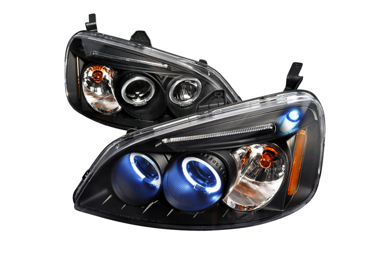 2002 Honda Civic Aftermarket Headlights