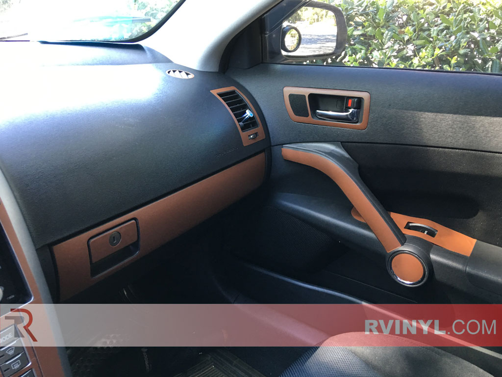 2007 scion tc brown leather dash kit upgrade. Black Bedroom Furniture Sets. Home Design Ideas
