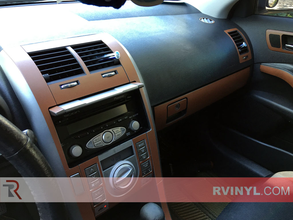 2007 Scion tC Brow Leather Dash Kit — Center Console