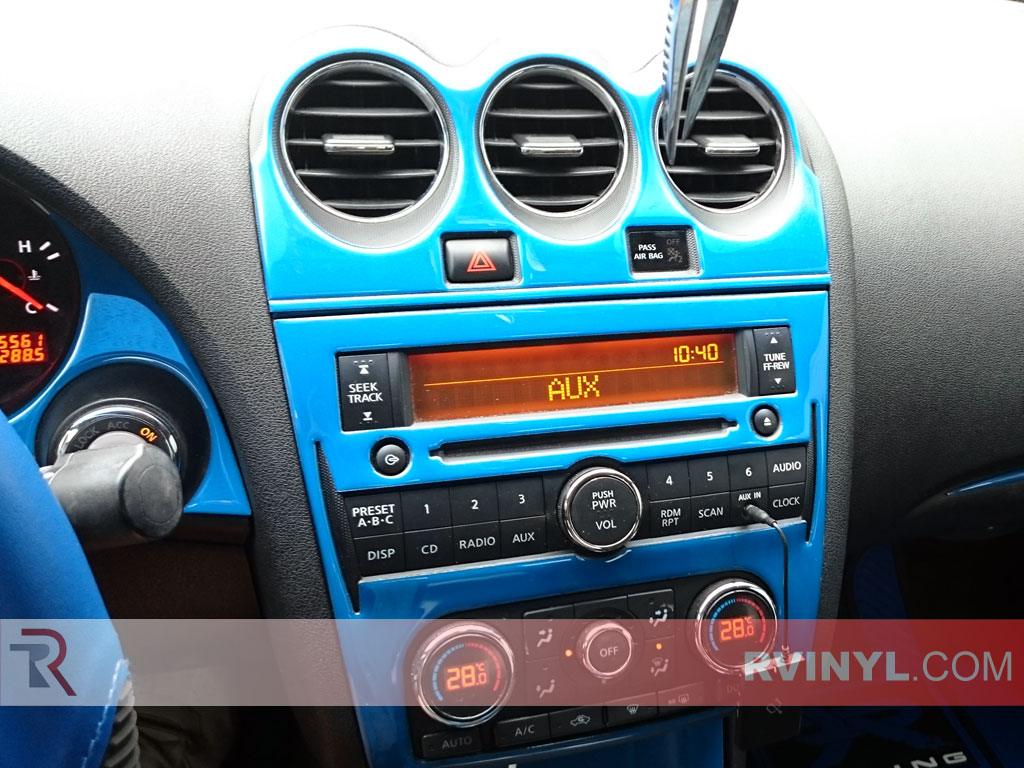 Gloss Blue Dash Kit - 2008 Nissan Altima Coupe - Center Console