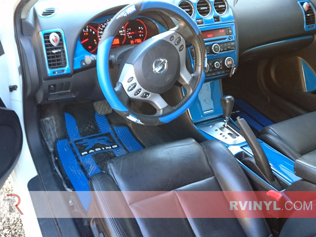 Gloss Blue Dash Kit - 2008 Nissan Altima Coupe