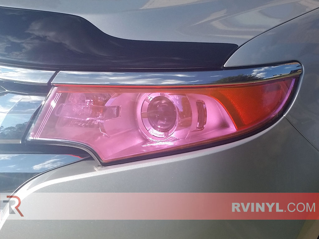 Pink Smoke Rtint® Headlight Tints - 2011-2014 Ford Edge