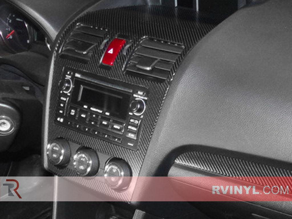 Passenger Side View of Carbon Fiber Dash Kit Center Console