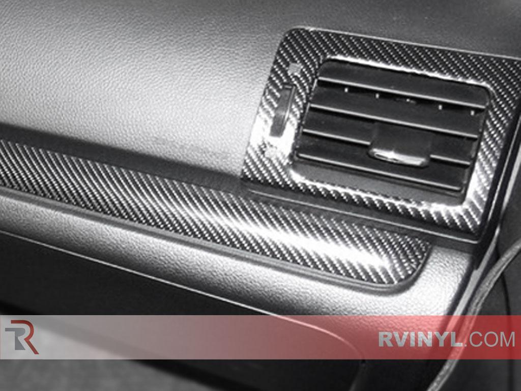 4D Carbon Fiber Dash Kit - Vent Surround Close-up