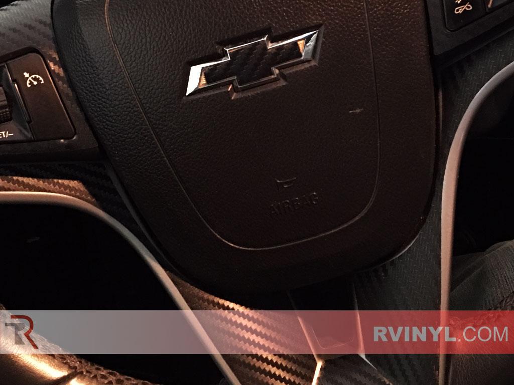 Steering Wheel Inserts - 2015 Chevy Cruze Carbon Fiber Dash Kit