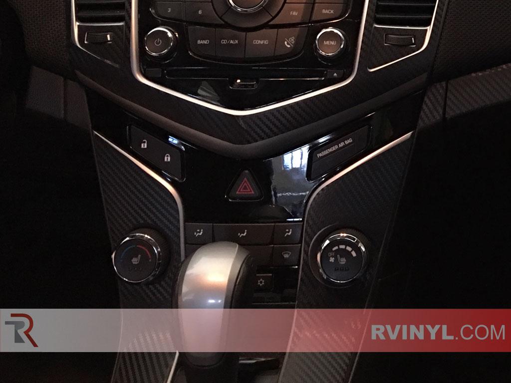 Center Console Trim - 2015 Chevy Cruze Carbon Fiber Dash Kit