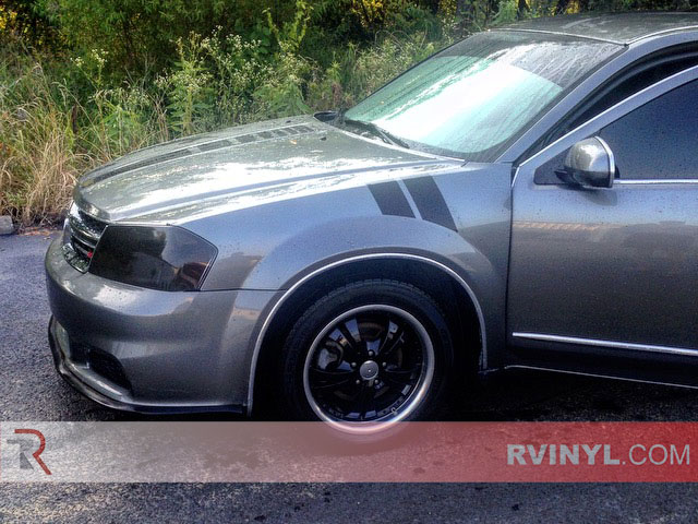Blackout Window Tint >> 2012 Dodge Avenger Blackout Headlight Tints