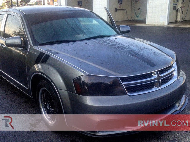 2012 Dodge Avenger Blackout Headlight Tints