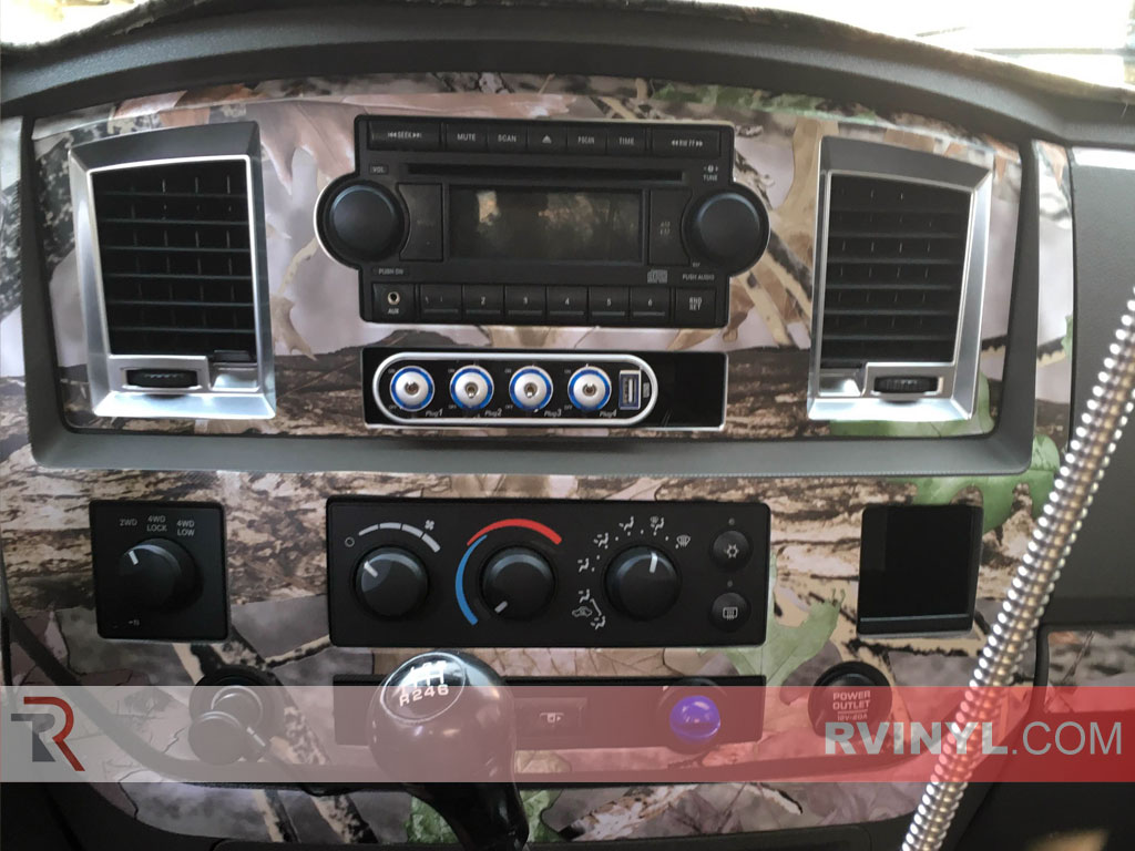 2006-2008 Dodge Ram Dash Kits —Hunter's Blind Camouflage Dash Kit