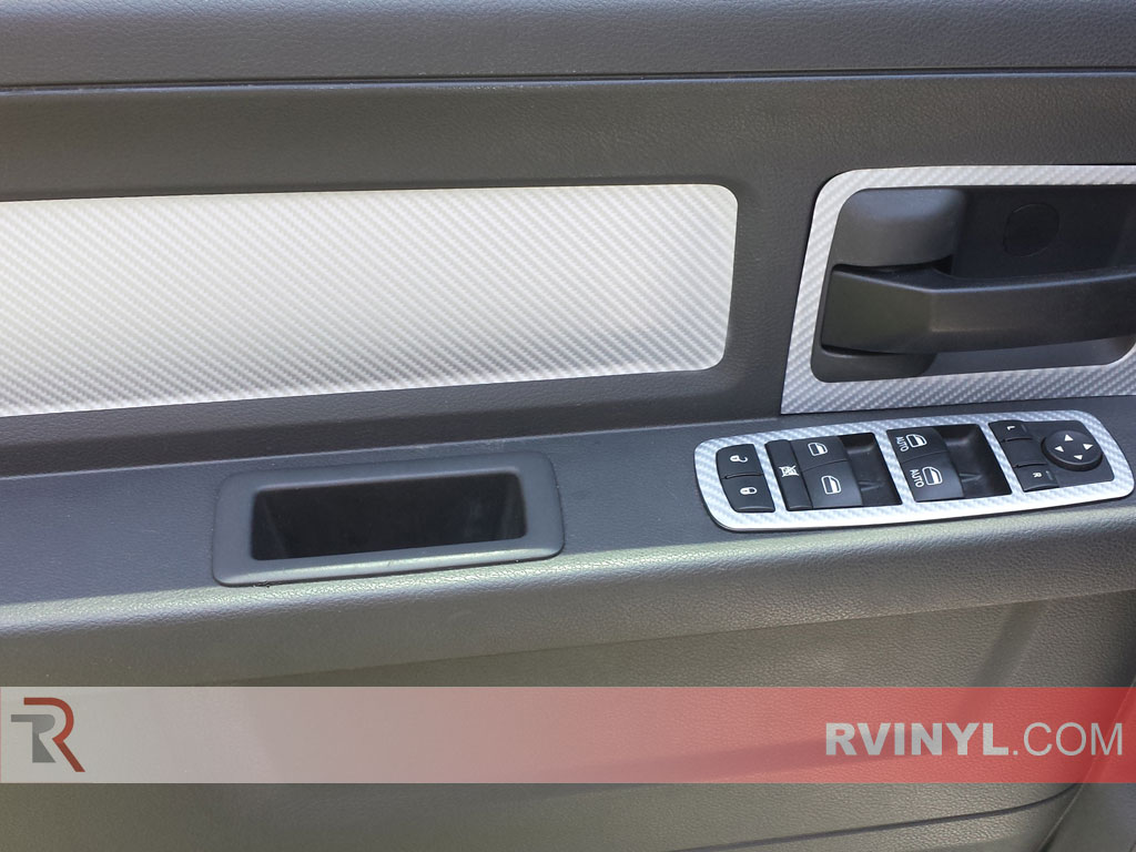 2012 Dodge Ram Dash Kits — 4D Silver Carbon Fiber Trim