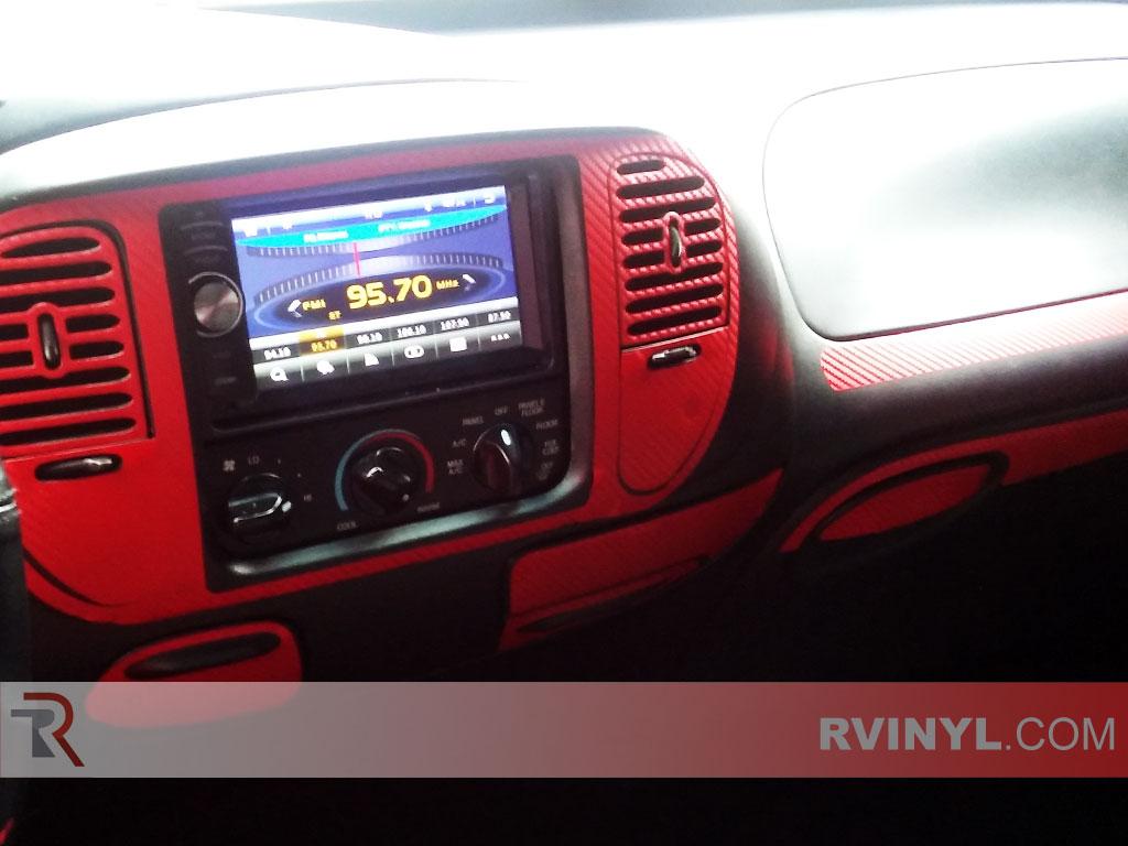 Red Carbon Fiber Dash Kit Upgrade For A 1998 F150 Dash Trim