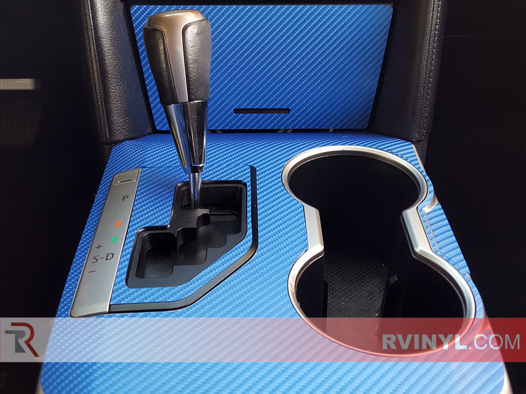 4D Blue Carbon Fiber Dash Kit in the 2012-2014 Toyota Camry