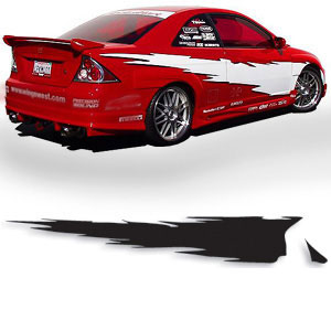 R Tear Body Graphic Decal Kit Diagram