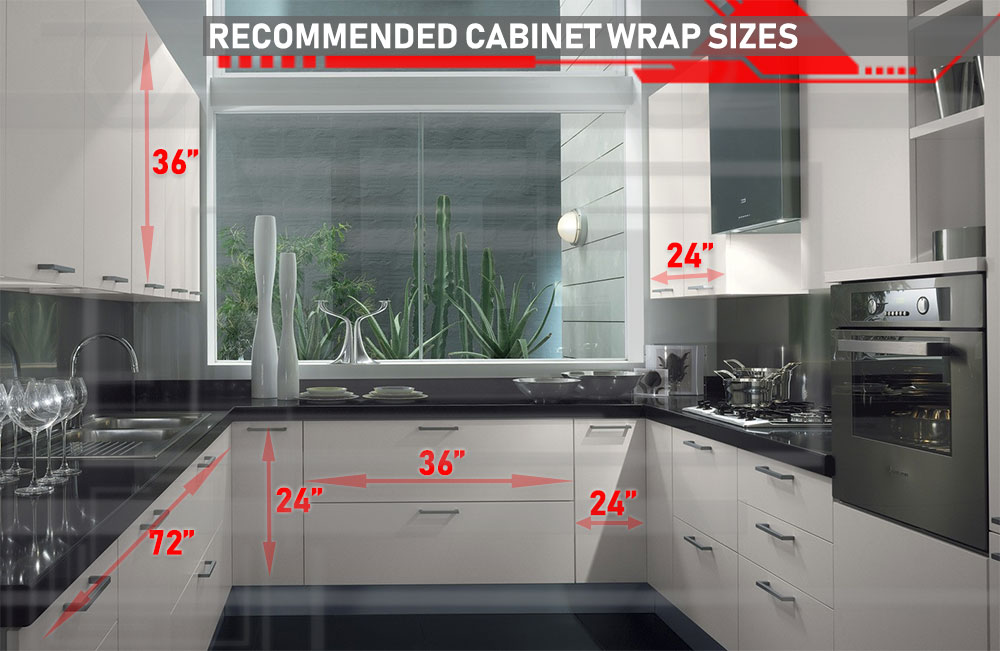 How to Measure for Cabinet Wraps