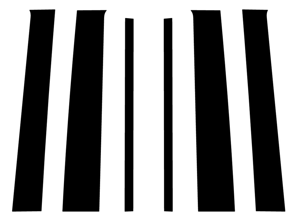 chevrolet trailblazer 2002-2009 pillar post trim diagram