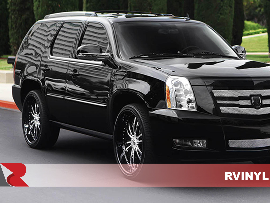 Cadillac Escalade 2007-2013 Gloss Black Pillar Trim Covers