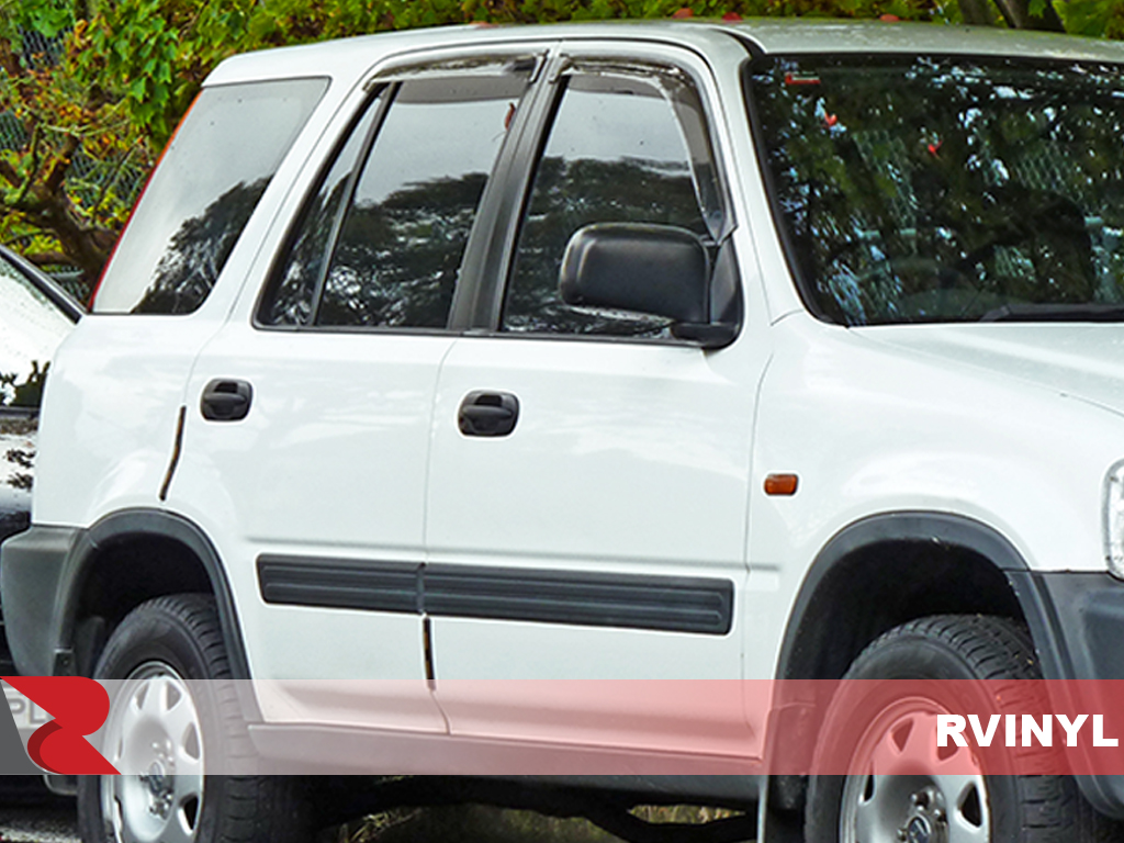 Honda CR-V 1997-2001 Gloss Black Pillar Trim Covers