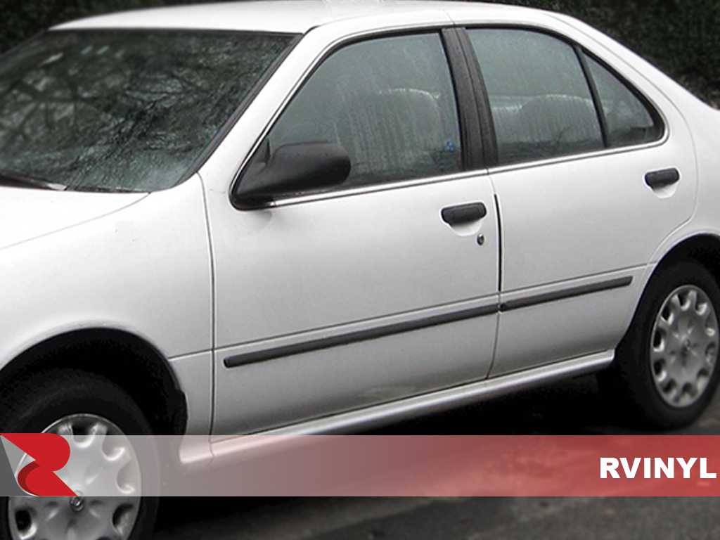 Nissan Sentra 1995-1999 Gloss Black Pillar Trim Covers