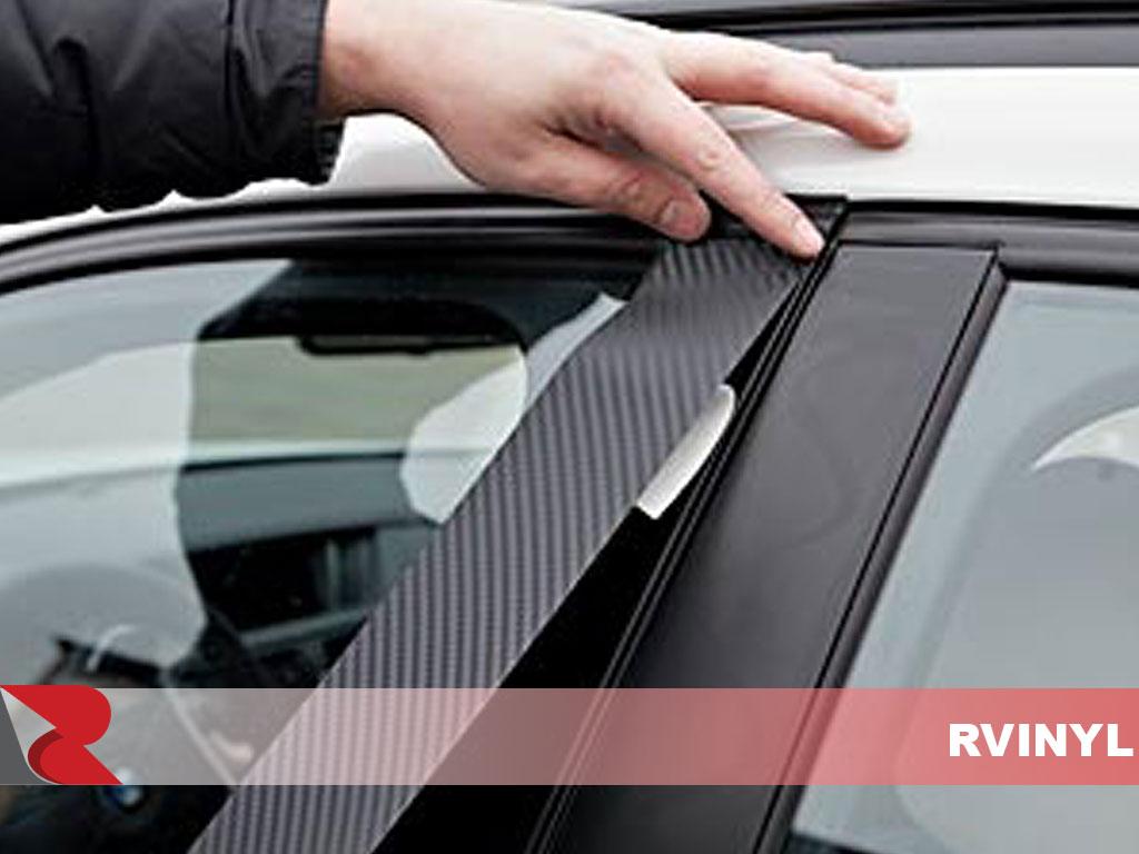 King Cab Brushed Black - Aluminum Rvinyl Rtrim Pillar Post Decal Trim for Nissan Titan 2004-2015