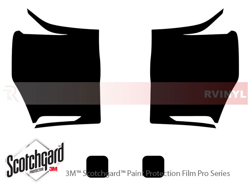Ford F-450 2008-2010 3M Pro Shield Headlight Protecive Film