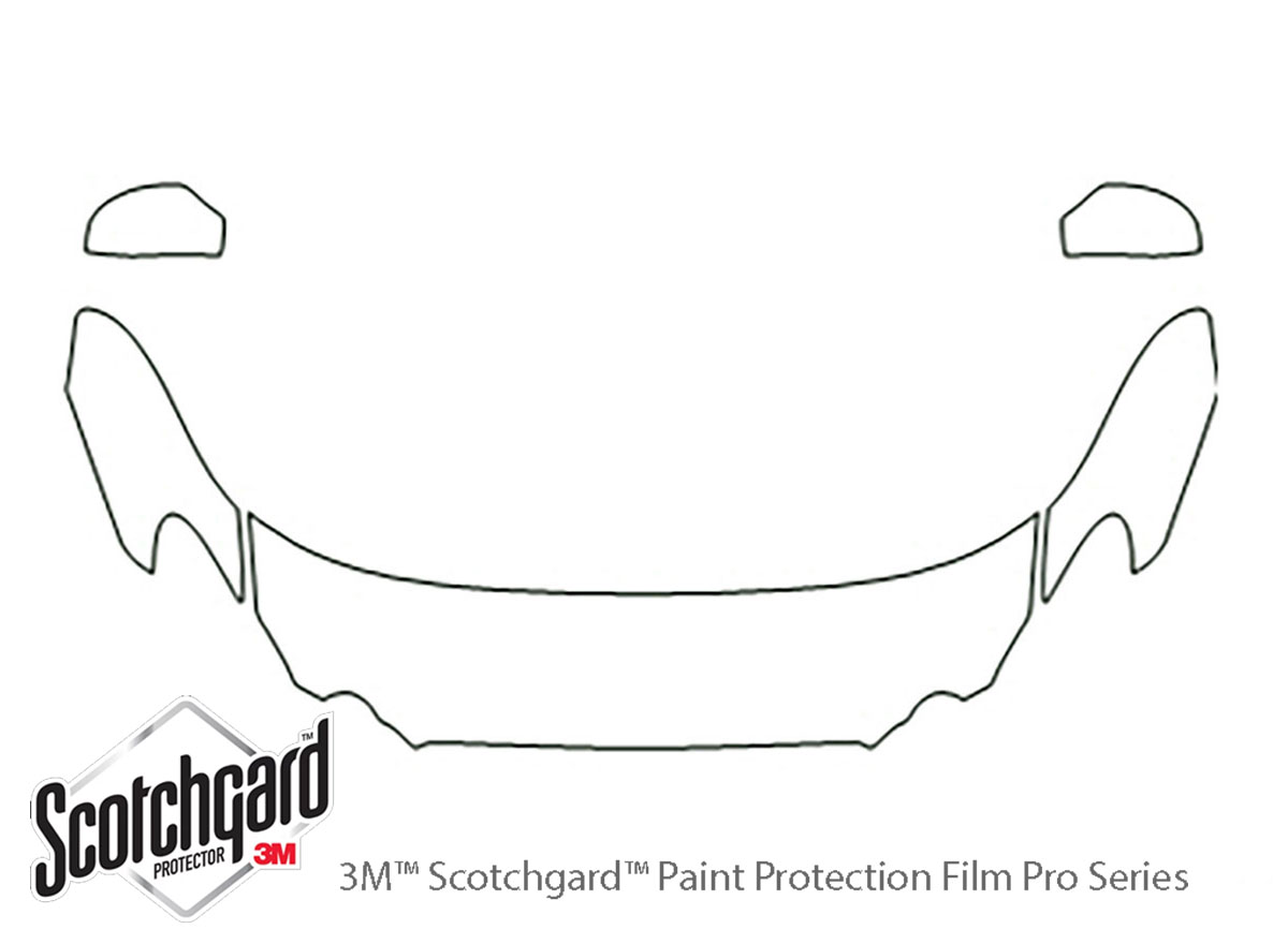 Buick Lacrosse 2008-2009 3M Clear Bra Hood Paint Protection Kit Diagram