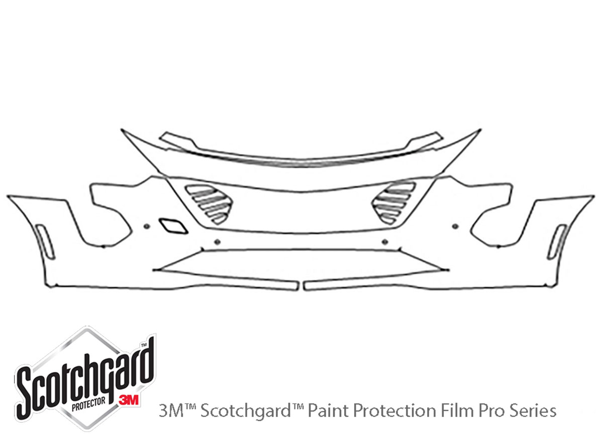 Cadillac CT6 2019-2020 3M Clear Bra Bumper Paint Protection Kit Diagram