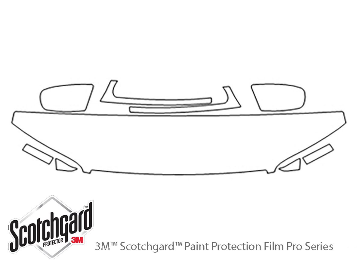 Cadillac Catera 1997-1999 3M Clear Bra Hood Paint Protection Kit Diagram