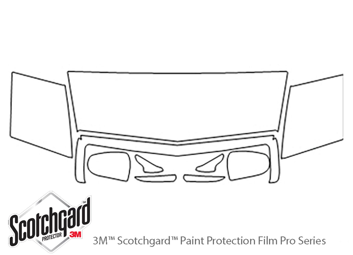 Cadillac Eldorado 1992-2001 3M Clear Bra Hood Paint Protection Kit Diagram