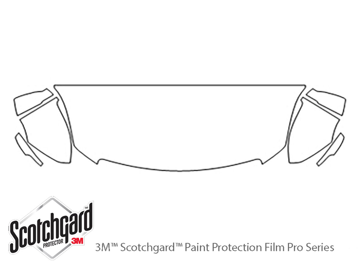 Cadillac XTS 2013-2017 3M Clear Bra Hood Paint Protection Kit Diagram