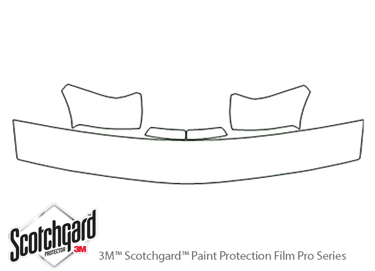 Chevrolet Blazer 1997-2005 3M Clear Bra Hood Paint Protection Kit Diagram