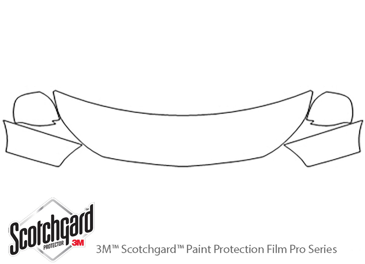 Chevrolet City Express 2015-2018 3M Clear Bra Hood Paint Protection Kit Diagram