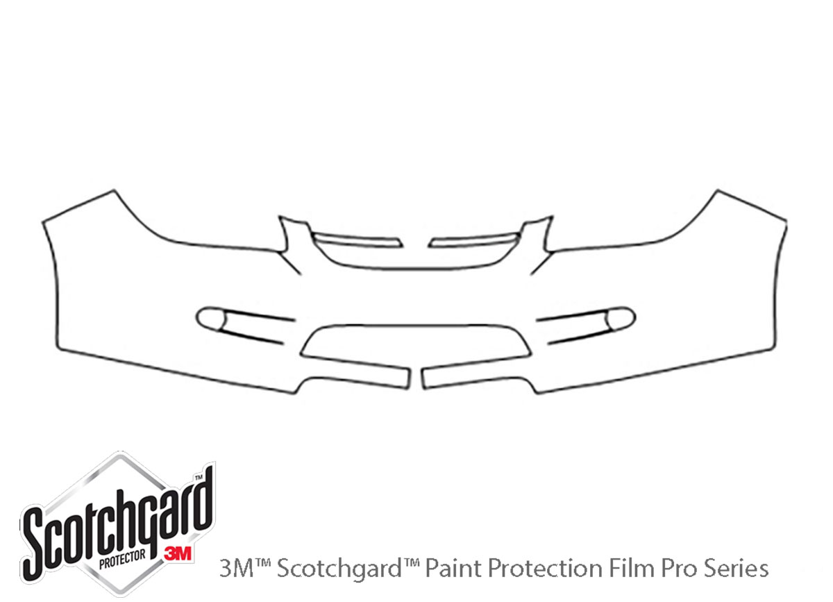 Chevrolet Cobalt 2005-2010 3M Clear Bra Bumper Paint Protection Kit Diagram