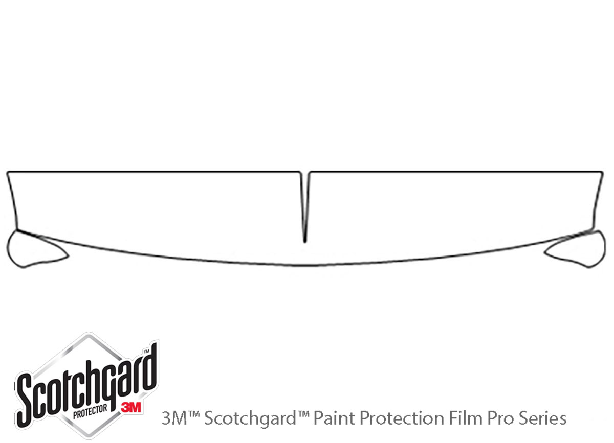 Chevrolet Silverado 1999-2002 3M Clear Bra Hood Paint Protection Kit Diagram