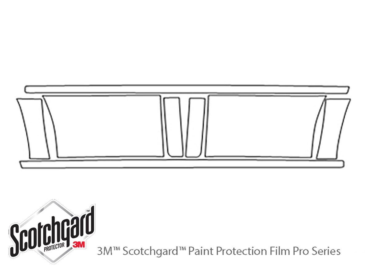 Chevrolet Silverado 2006-2006 3M Clear Bra Door Cup Paint Protection Kit Diagram