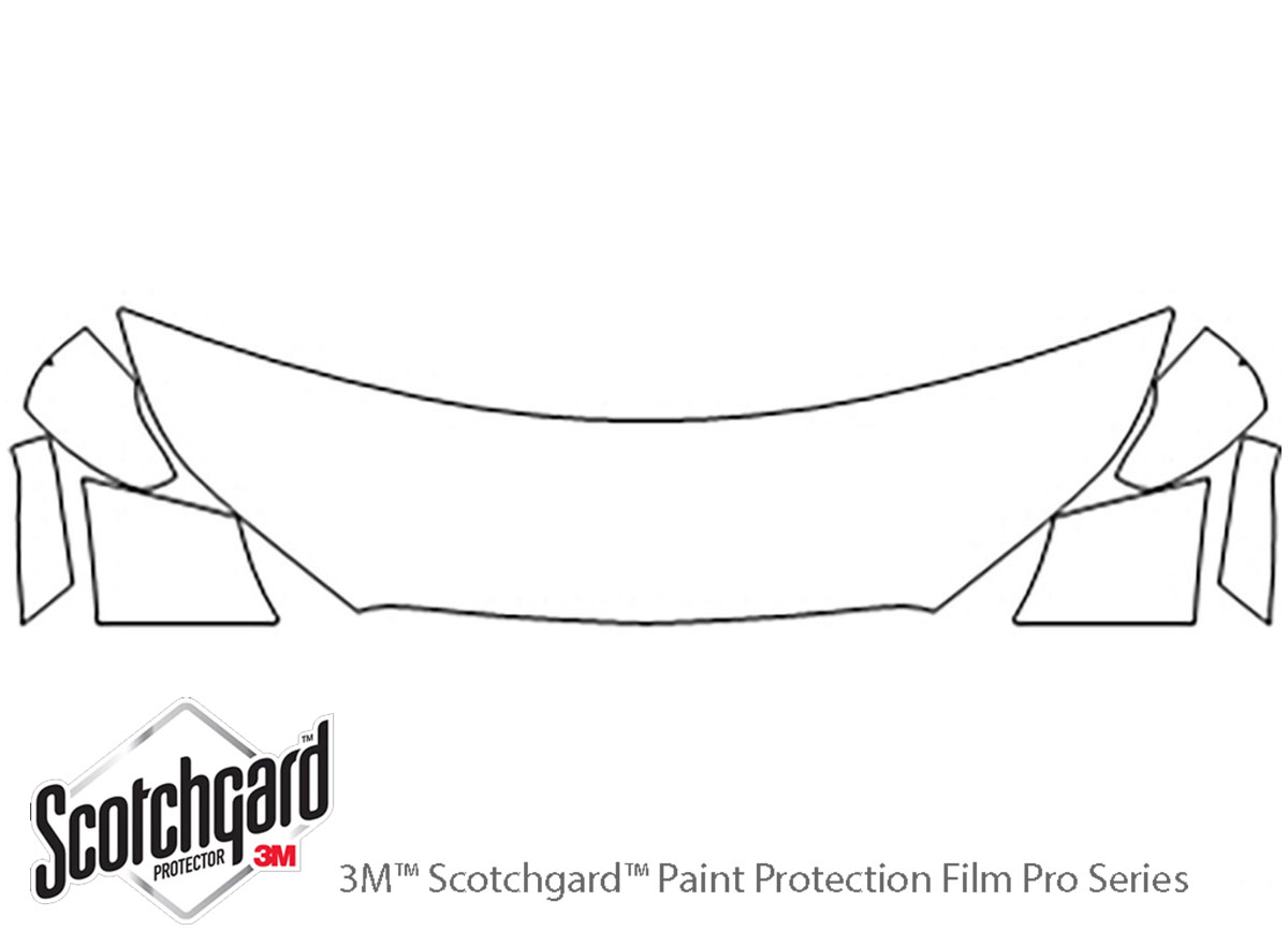 Chevrolet Spark 2016-2021 3M Clear Bra Hood Paint Protection Kit Diagram