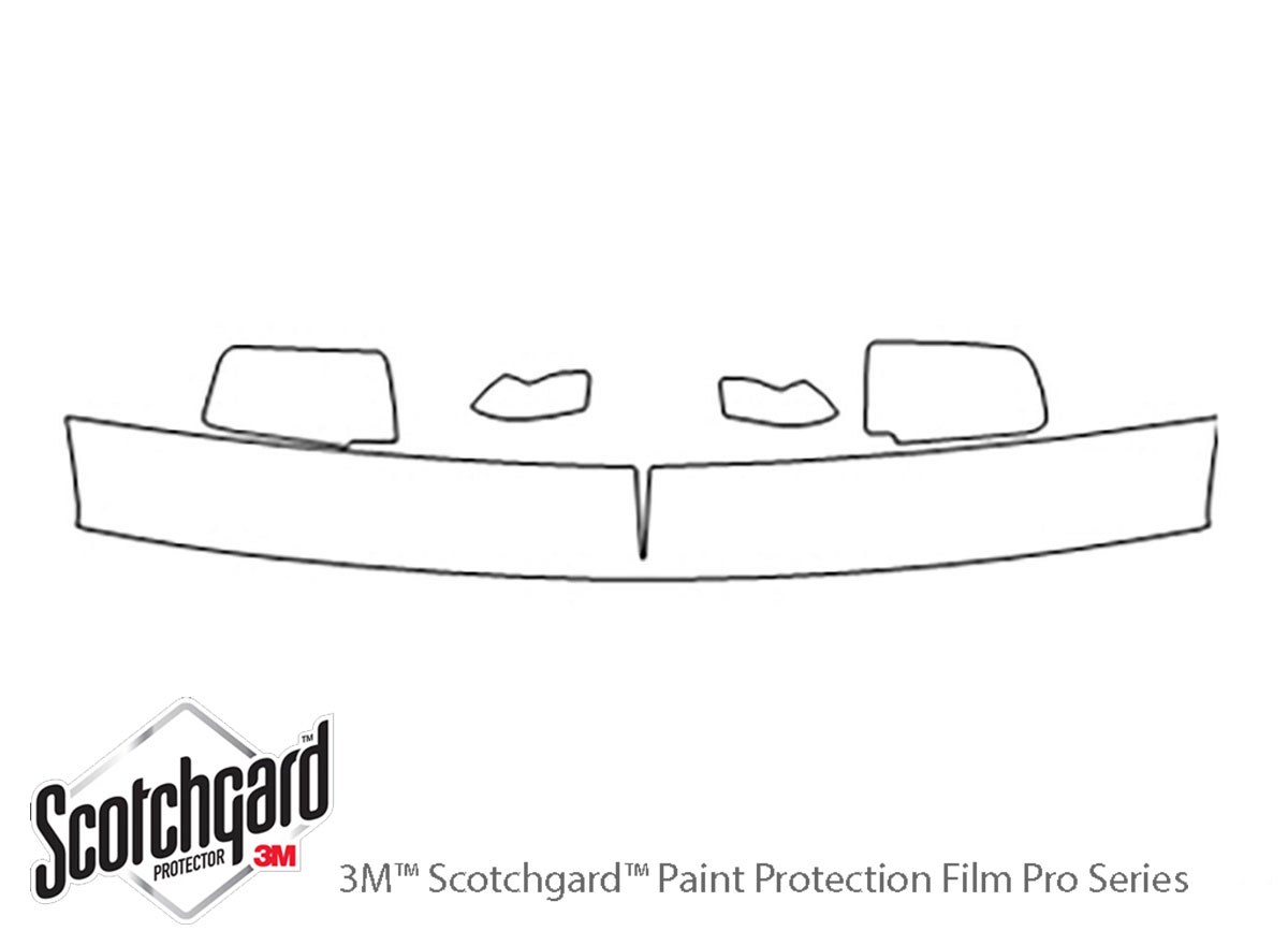 Chevrolet Suburban 1992-1999 3M Clear Bra Hood Paint Protection Kit Diagram
