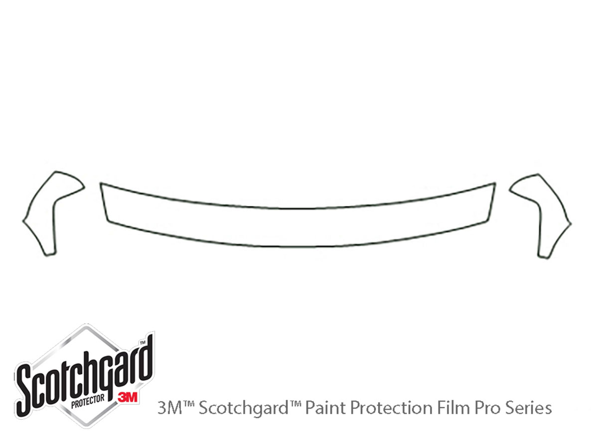 Chevrolet Tahoe 2000-2002 3M Clear Bra Hood Paint Protection Kit Diagram