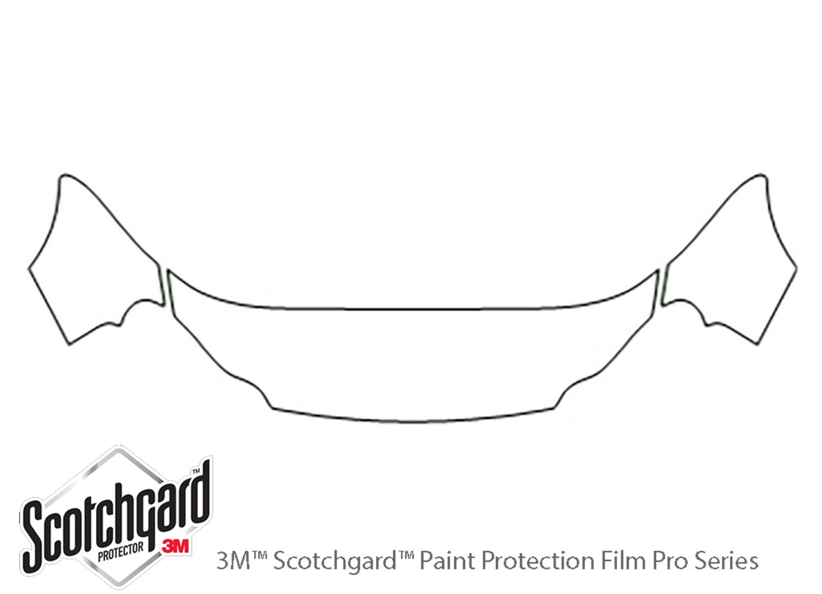 Chrysler Concorde 1998-2004 3M Clear Bra Hood Paint Protection Kit Diagram
