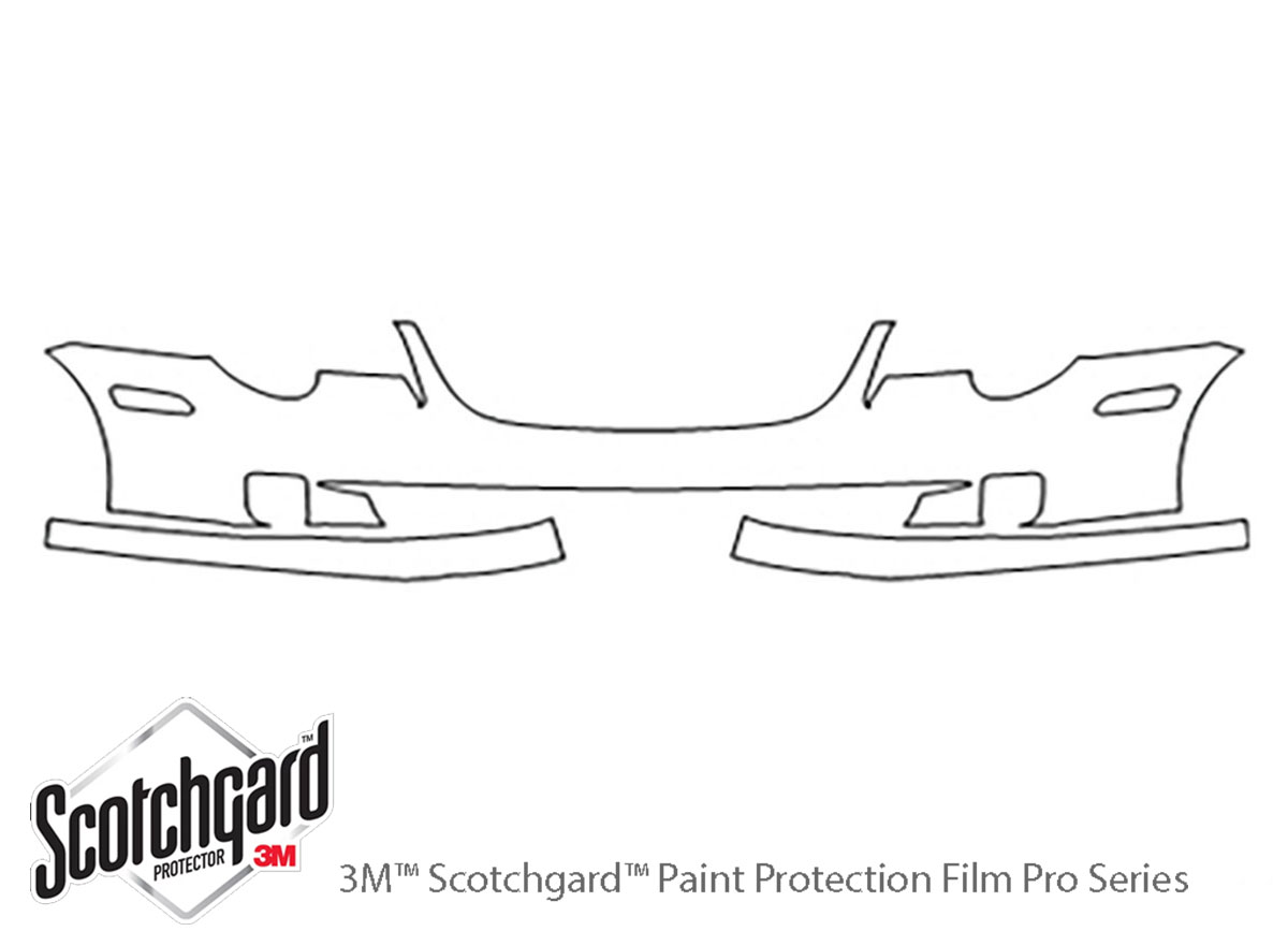 Chrysler Crossfire 2004-2008 3M Clear Bra Bumper Paint Protection Kit Diagram