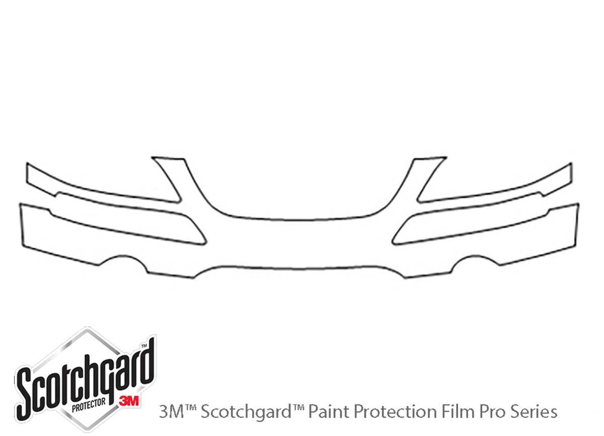 Chrysler Pacifica 2004-2008 3M Clear Bra Bumper Paint Protection Kit Diagram