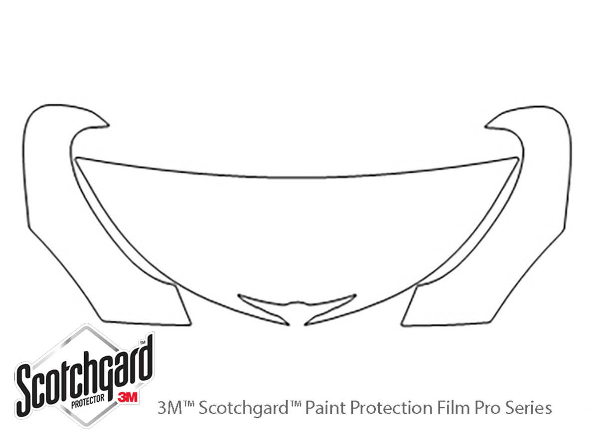 Chrysler Pt Cruiser 2001-2005 3M Clear Bra Hood Paint Protection Kit Diagram