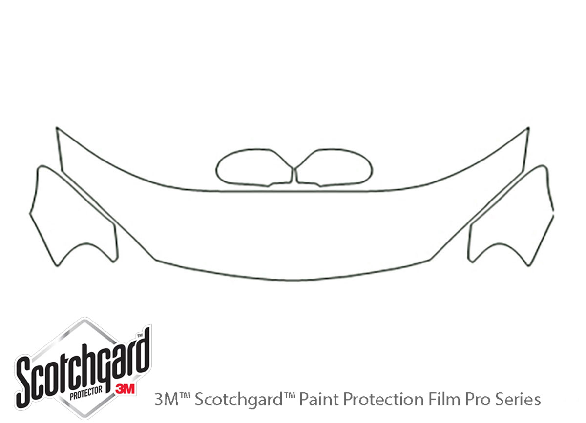 Chrysler Sebring 2001-2006 3M Clear Bra Hood Paint Protection Kit Diagram