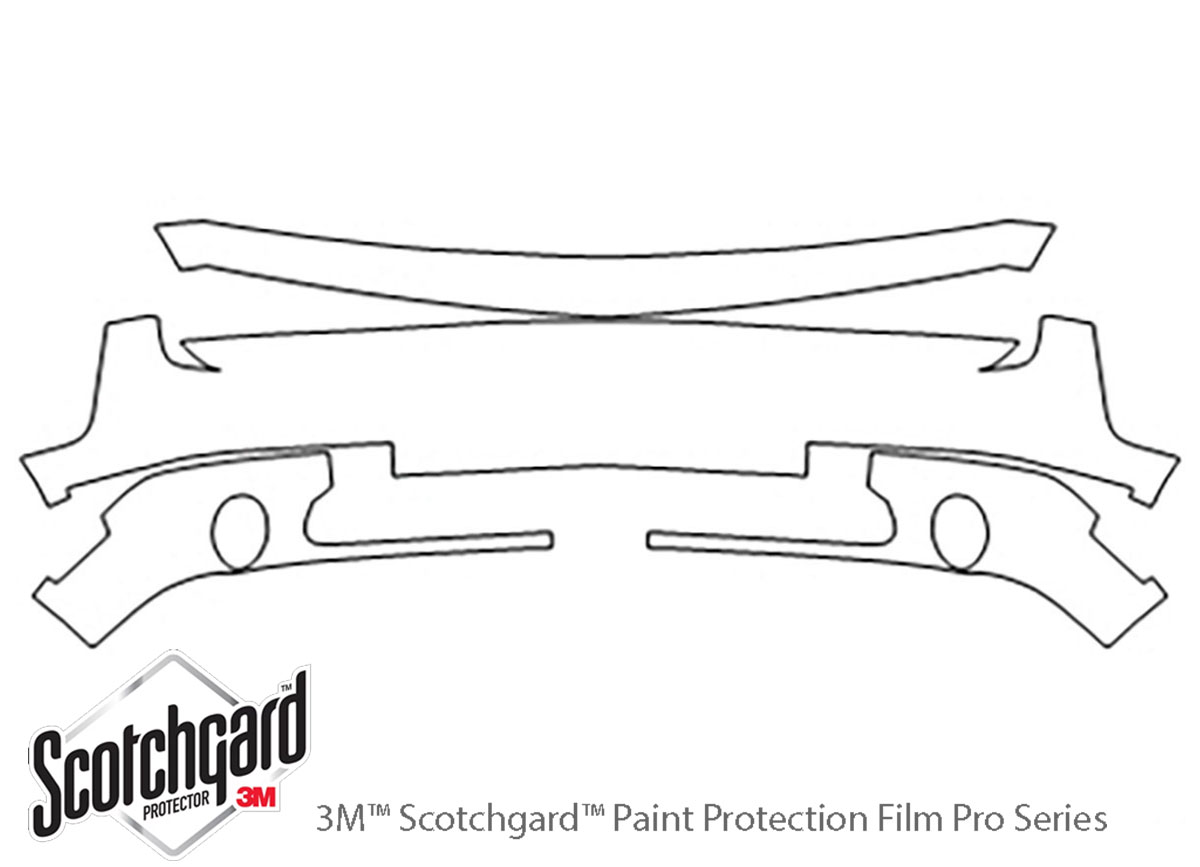 Dodge Challenger 2011-2014 3M Clear Bra Bumper Paint Protection Kit Diagram