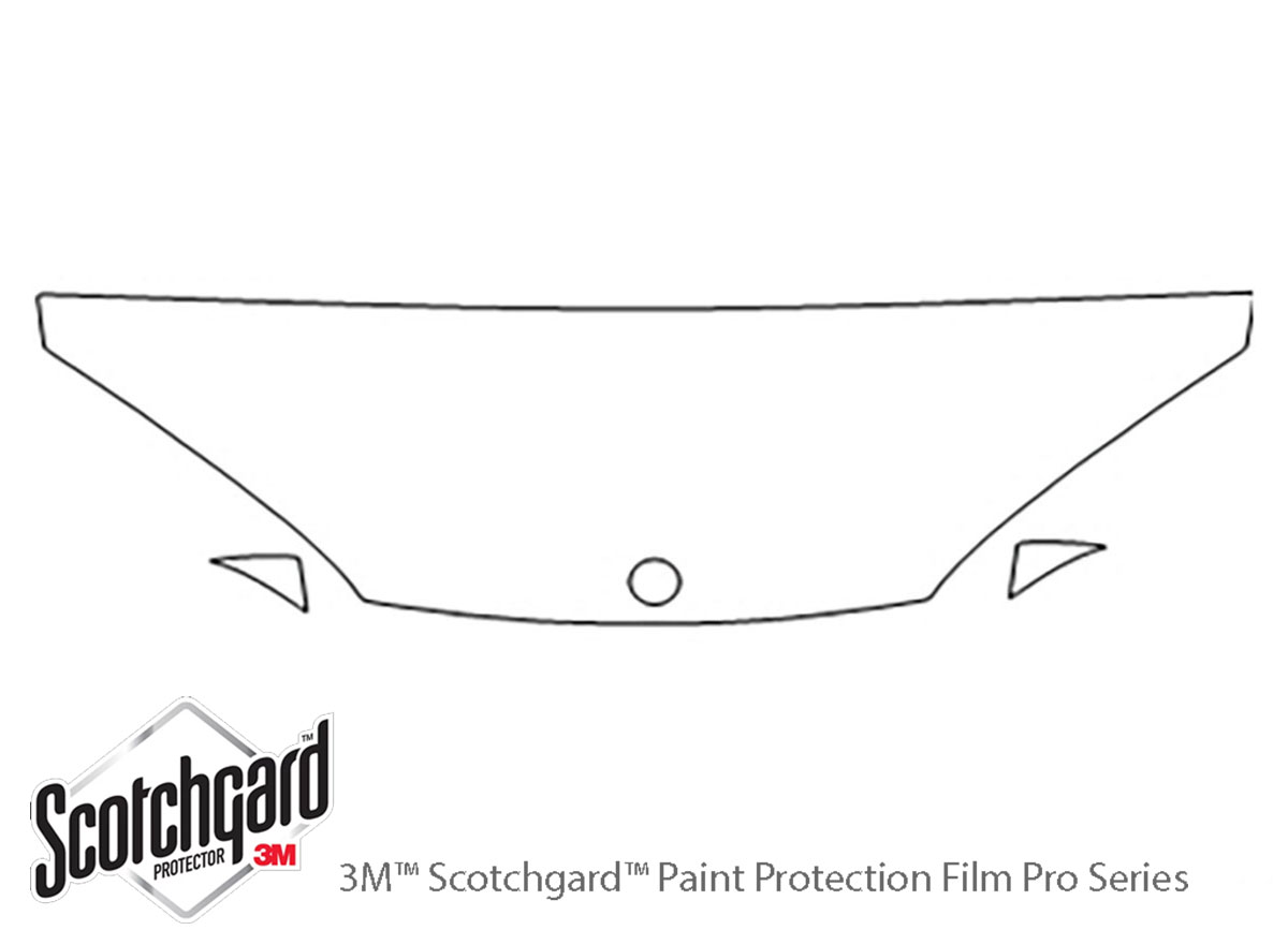 Dodge Intrepid 1998-2003 3M Clear Bra Hood Paint Protection Kit Diagram