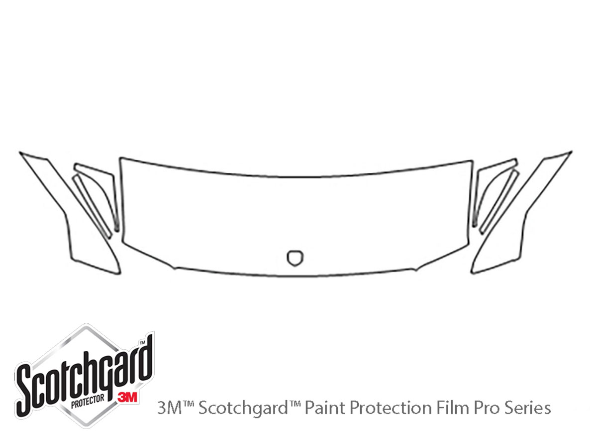 Dodge Sprinter 2003-2006 3M Clear Bra Hood Paint Protection Kit Diagram