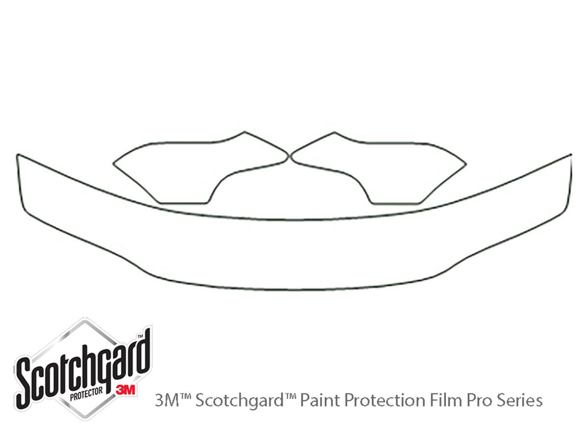 Dodge Stratus 1995-2000 3M Clear Bra Hood Paint Protection Kit Diagram